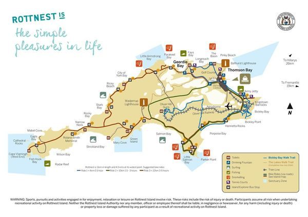 羅特尼斯島地圖